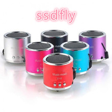 Ssdfly Z-12 aluminum alloy small cylinder plug memory card audio wholesale gift speaker mini U disk card speaker