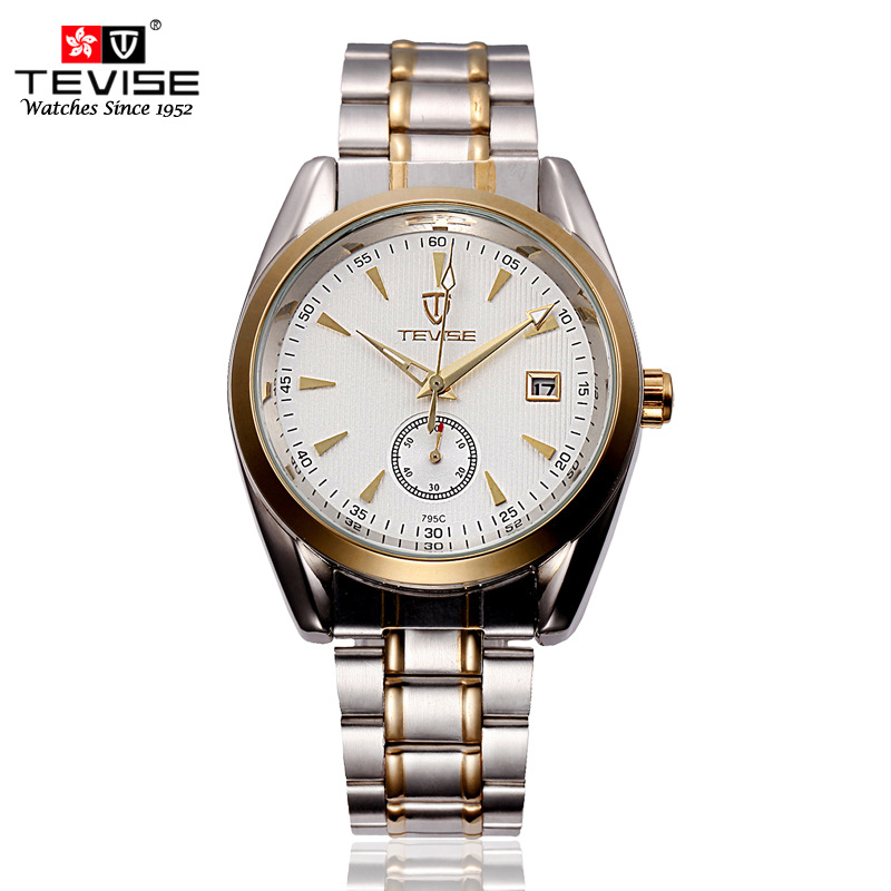 Tevise Casual Relogio Masculino Mens Day Auto Mechanical Watch Stainless Steel Wristwatch Gift Box Free Ship<br><br>Aliexpress