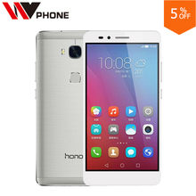 "WV Original HuaWei Honor 5X  2GB RAM  16G Rom 4G LTE Mobile Phone Snapdragon 616 Octa Core 5.5"" FHD 1080P  13.0MP Fingerprint"