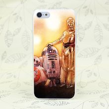 904F Star Wars Force Awakens Bb 8 Droid Hard Transparent Case Cover for iPhone 7 7 Plus 4 4s 5 5s 5c SE 6 6s Plus