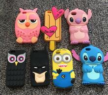 Stitch Cartoon 3D Cute Soft Silicon Phone Back Cover Phone Case For iPhone 6 6S 6G Owl minios for iphone 6S coque capa funda