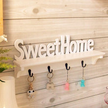 "Great Vogue ""Sweet Home"" Shelves Wall Rack Wooden&PVC Home Holder Storage Hanger Decors #78208"