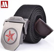Red star automatic buckle fashion men's military canvas belts male casual strap waist of trousers luxury belt MB030 110CM 140CM