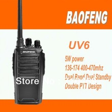 DHL freeshippi+2013 Baofeng bf-uv6 Ham Two Way Radio 136-174/400-480 MHz Dual-Band CTCSS DCS FM 5W Amateur Radio Transceiver
