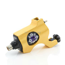 Hot Sale Yellow Bishop Rotary Tattoo Machine For Shader and Liner 7 Colors High Quality Body Art Gun Makeup Tool Free Shipping