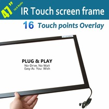 "Free Shipping 47"" IR Touchscreen Frame 16 Points Fast Responsiveness Strong Anti-jamming Long Operating life For Touch Display"