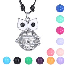 Animal Owl Musical Cage Openable Ball Angel Hollow Out Mexican Bola Openable Locket Pendant Necklace Sounds Bell Baby Pregnancy(China)