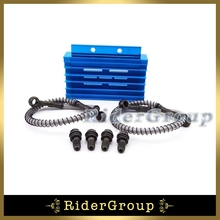 Oil Cooler Blue CNC For Chinese Pit Dirt Bike Motorcycle 125cc 140cc 150cc BSE Kayo CRF50 Thumpstar Lifan YX Zongshen