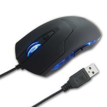 2400 DPI LED 6 Button Key Optical USB Wired Mouse For Game Laptop Computer Wholesale Drop Shipping(China)