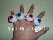 Free Shipping36pcs/lot LED flash finger light LED light eye ring Blinking Party Soft Rave Glow Jelly Finger Rings  for halloween