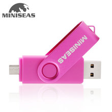 Miniseas Usb Flash Drive OTG 64gb 32gb Smart Phone pendrive 8gb external storage Pen Drive micro usb memory stick Flash Drive