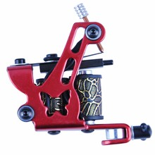 New Arrival Coil Tattoo Machine 8 Wrap Coils Tatoo Gun Red Butterfly Tattoo Frame for Liner Shader Equipment Supply Tattoo Sets(China)