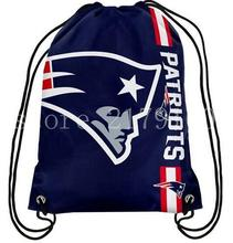 35X45cm New England Patriots knitted  bag drawstring backpack sport  Big Logo bag cloth digital printing