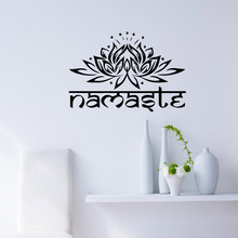 New arriving mandala wall stickers creative art vinyl home decal indian lotus mural room decoration buddhism sticker