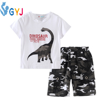 pant and T-shirts for boys 2 pieces dinosaur boys summer clothes dinosaur t shirts for boys dinosaur t shirts for kids kd 2-6