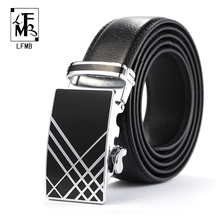 [LFMB] New Stylish Belts Men New Designer Brand Belt Cowskin Leather Belts Luxury Male Waist Strap cintos masculinos Cowboy Belt(China)