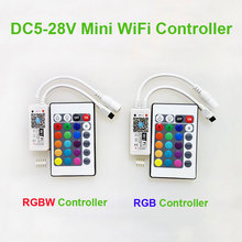 Freeshipping+MINI LED RGB / RGBW WIFI Controler DC5-28V + IR 24 Key Remote Controller