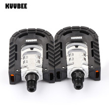 KUUBEE Aluminum Bike foot Pedals Folding Cycling Pedals Pedali Mtb Spd Mtb Bicycle Ball Bearing Footboard