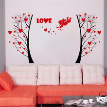 Romantic love heart tree Wedding site wall art warm Design decoration wall sticker AY863
