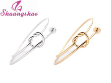 Min 1pc 2016 New Fashion  Twist Knot Nail Bangle Heart Knot Bracelet Stack Bangle Cuff  SZ026