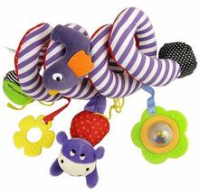 Hot Sale 65cm Baby Bed Strollers Hanging Plush Bird baby Toys Multipurpose With Sound Paper and Mirror Children Boy Gift Retail