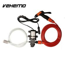 Portable Car High Pressure Washer 70W 130PSI High Pressure Self-Priming Car Wash Water Pump 12V Clean Set(China)