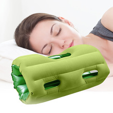 2016 Neck Pillow Outdoor Portable Folding Inflatable Travel pillow aircraft office nap pillow Back Cushion Creative Pillow(China)
