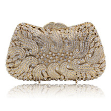 Top Design gold Crystal Evening Bag Luxury Clutch purse for  Wedding Party Purse Prom Handbag Banquet Bag Day Clutches lady gift