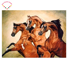 hot new  Area Highlight Diamond Needlework 5D Diy animal  Diamond Painting Kit Diamond Cross Stitch Embroidery The fit horse
