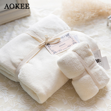 2 Pcs/set Microfiber Beach Bath Towels and Face Towels Adults High Quality Microfibre Outdoor Travel Bathroom Towels Brand AOKEE(China)