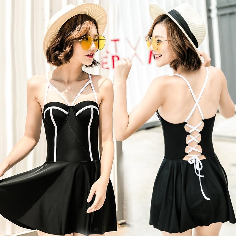 Swimming Suit For Women Vintage Beachwear Shorts Cheap Sexy Bikini Woman Swimsuit 2017 New Korea Girl Brand Skirt Bandage<br><br>Aliexpress