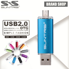 Suntrsi OTG USB Flash Drive 64GB USB Pen Drive 16GB 8GB Pen Drive OTG external Micro USB Stick Memory Stick USB 2.0 Flash Card(China)