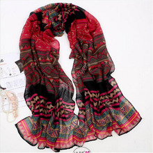 2016 Hot Sale Lady Women's Fashion Long Big Soft Cotton Voile Scarf Shawl Wrap Red  Hottest