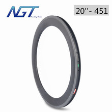 451 Carbon Bike Wheel 16-36 Holes Clincher Bicycle Wheels folding Bike Wheels bmx 20 rims 38mm 451 best Performance For Riders(China)