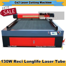 CO2 Laser Cutting Machine1300*2500mm 130W Reci Laser Tube  220/110V Honeycomb  Cutting  for Plywood/Acrylic/Wood Free Ship
