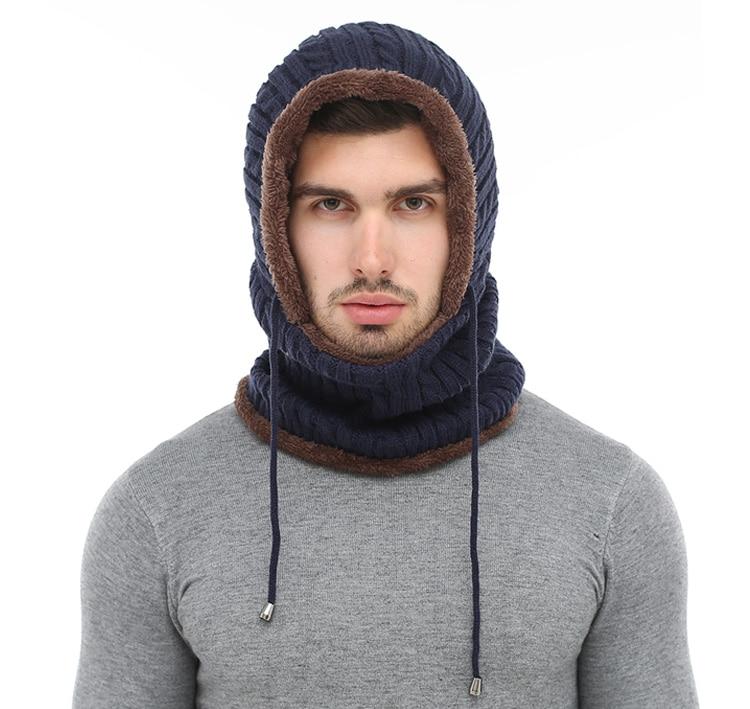 قبعة و وشاح رجالي دافئ 2