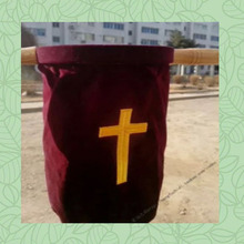 Genuine Brand New Large Size 100% cotton Velvet  Offering Dedication bag Church Supplier With Handle Money Collection