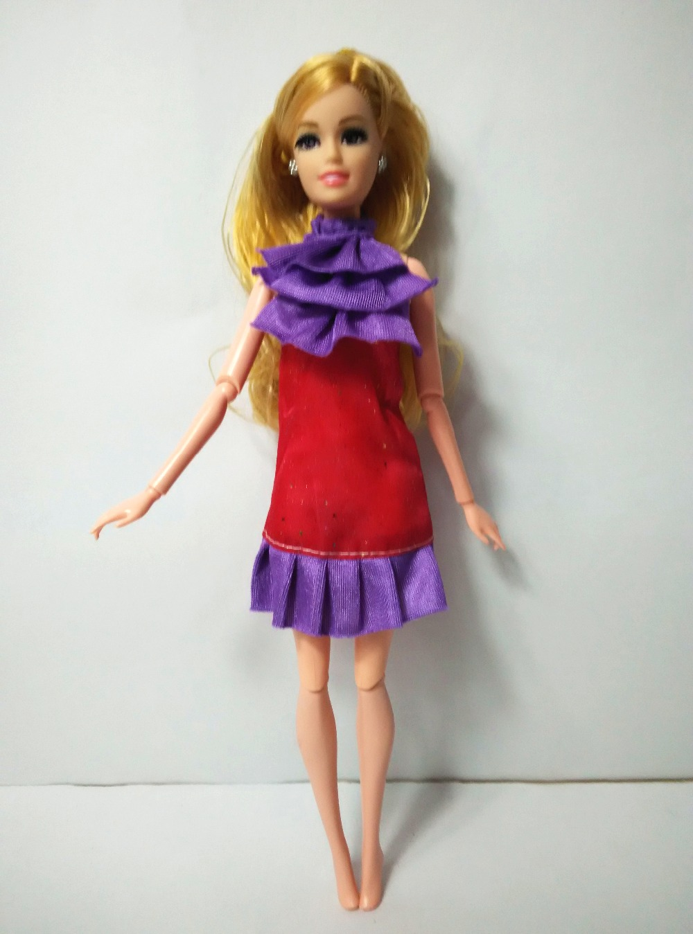Unique For Barbie Purple Pink Speckl b118 Costume Garments Occasion Robe Informal wears 2016 dolls