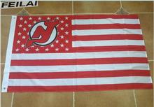 New Jersey Devil American stars stripes flag 3X5FT NHL hockey team advanced printing free shipping