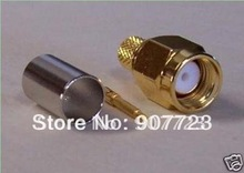 30pcs SMA Male Crimp RF Connector Goldplated For RG58 LMR195 Cable