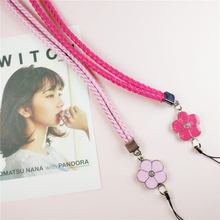 Cute Flower Colorful Mobile Phone Lanyard Phone Straps Neck Hanging Rope Card USB Holder Chain Keychain Charm Cords P10