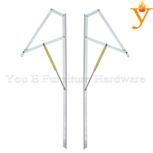 Adjustable Furniture Hardware Lift Gas Spring Mechanism For Bed Or Sofa Storage A05