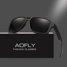 AOFLY Polarized Sunglasses Mens Cool Vintage Brand Design Male Sunglasses Polaroid lenses Goggles Shades Oculos Masculino AF8030(China)