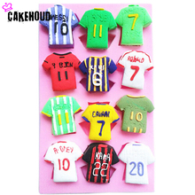 New DIY Soccer Jersey Shape Cake Decoration Liquid Silicone Mold Chocolate Cake Decoration Tools Kitchen Baking Accessories