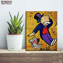 DPARTISAN The Popular alec monopoly Banker board posters POP ART painting prints on canvas free shipment M74(China)