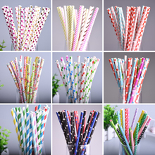 25pcs Mix Color Drinking Straw Happy Birthday Wedding Decorative Event Party Supplies Environmental Paper Drinking Straws