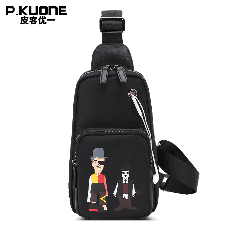 P.KUONE Nylon Fashion Chest Pack Mens Handbag High Quality Shoulder Bag Waterproof Messenger Bag Famous Brand Bag 2018 Designer<br>
