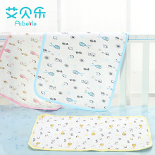 AiBeiLe 2017 New Big Sizes 0-12 M Cartoon Breathable Waterproof Baby Diapers Repetition Use Cloth Nappy Changing Mat Urine Mat(China)
