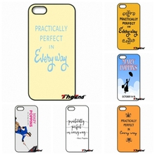 For iPhone 4 4S 5 5C SE 6 6S 7 Plus Galaxy J5 J3 A5 A3 2016 S5 S7 S6 Edge Mary Poppins Practically Perfect Mobile Phone Case