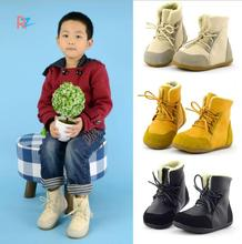 Brand Real Goat Fur Baby Boy Winter Snow Boots Kids Boys Boots Shoes Children Geanuine Leather Australia Ankle Boots